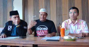 Panitia deklarasi 2019 Ganti Presiden membatalkan aksi karena tidak kantongi izin,,Jumat (31/8//2018). (Foto/Gito R)