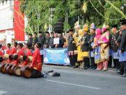 Tarian khas Aceh, Rapai Geleng berhasil menghibur warga Solo dan peserta Jaringan Kota Pusaka Indonesia (JKPI). (Foto/Ist)