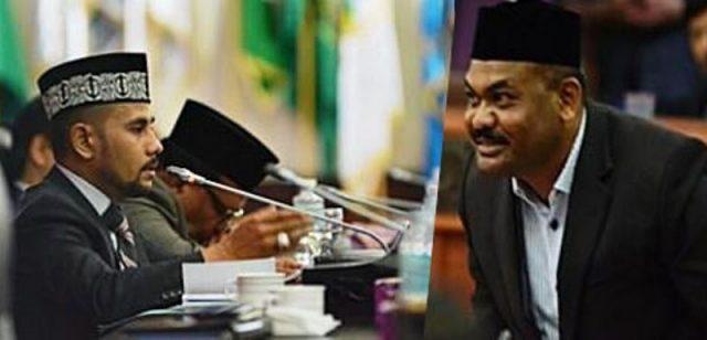 Muharuddin (kanan), mantan Ketua DPRA dan Sulaiman (kiri), Ketua DPRA Aceh, sekarang. (Foto/Ist)