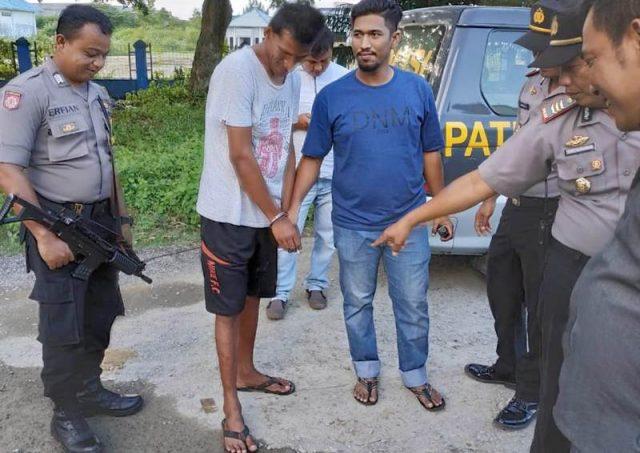 Salah seorang tahanan Lapas Lambaro, Aceh Besar, yang berhasil ditangkap kembali oleh petugas Polres Pidie. (Foto/Muhammad Riza).