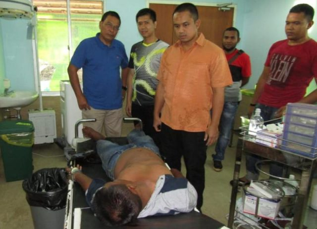 Napi pelarian dari Lapas Kelas II A Lambaro, Aceh Besar, dilumpuhkan petugas dari Polres Aceh Barat. (Foto/Ist)