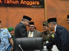 Plt Gubernur bersama Forkopimda Aceh di gedung DPRA di Banda Aceh, Kamis (13/12/2018). (Foto/Ist)