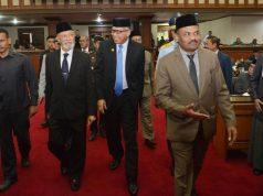 Pembukaan masa persidangan II DPR Aceh tahun 2018 dengan agenda penyampaian nota keuangan RAPBA tahun anggaran 2019. (Foto/Ist)