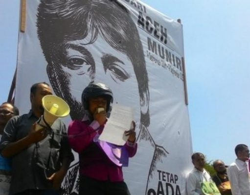 Demo kasus pelanggaran HAM di Aceh.(Foto/merdeka.com/afif)