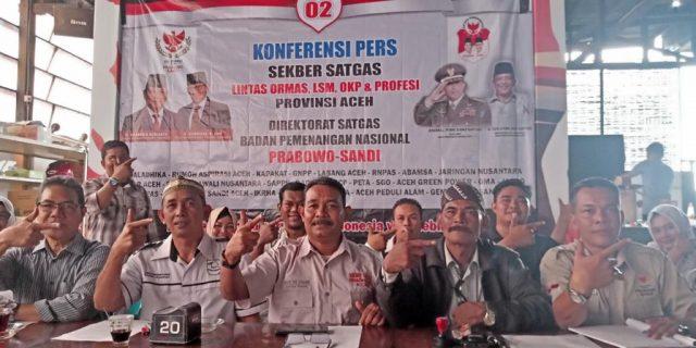 Tim Satgas Pemenangan Prabowo-Sandi bertekad akan mengawal kotak suara di seluruh Aceh. (Foto/Ist)
