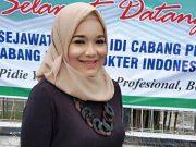 Dr.Arika Husnayanti Aboebakar, Sp.OG, akhirnya terpilih sebagai Ketua Ikatan Dokter Indonesia (IDI) Cabang Kabupaten Pidie, priode 2019-2021. (Foto/Ist)